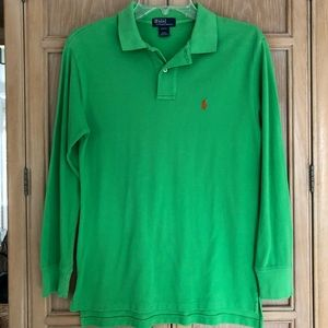 Ralph Lauren Long Sleeve Polo Shirt Boys S 8-10
